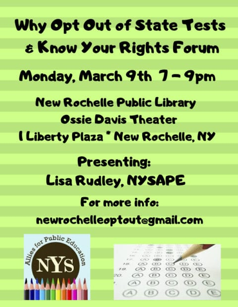 green flyer with brown font and image of nysape logo